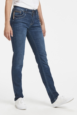 Pulz Emma straight jeans medium blue