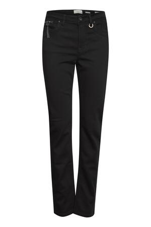 Pulz Emma straight jeans black denim