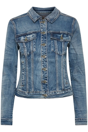 Culture alis jakke denim blue wash