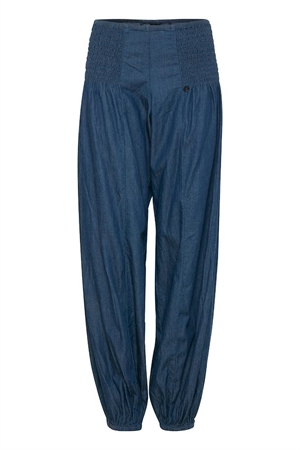 Pulz jillwide bukser denimT dark blue
